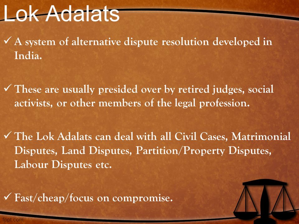 "alternative dispute resolution in india Alternative dispute resolution (""adr"") is practiced around the world with myriad  approaches, though not without common ground in an increasingly."