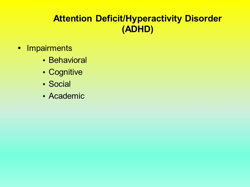 an analysis of the topic of ritalin and attention deficit hyperactive disorder This topic center provides a detailed description of attention deficit hyperactivity disorder (adhd), its causes, symptoms and treatments adhd is a n.