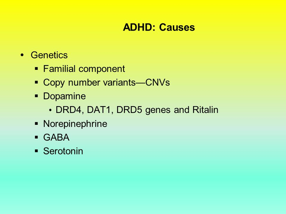 role of serotonin in adhd adults