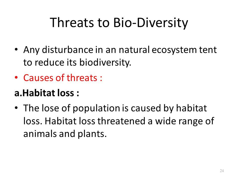 Threats to Bio-Diversity