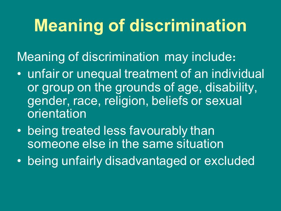 Examples of discrimination in society today