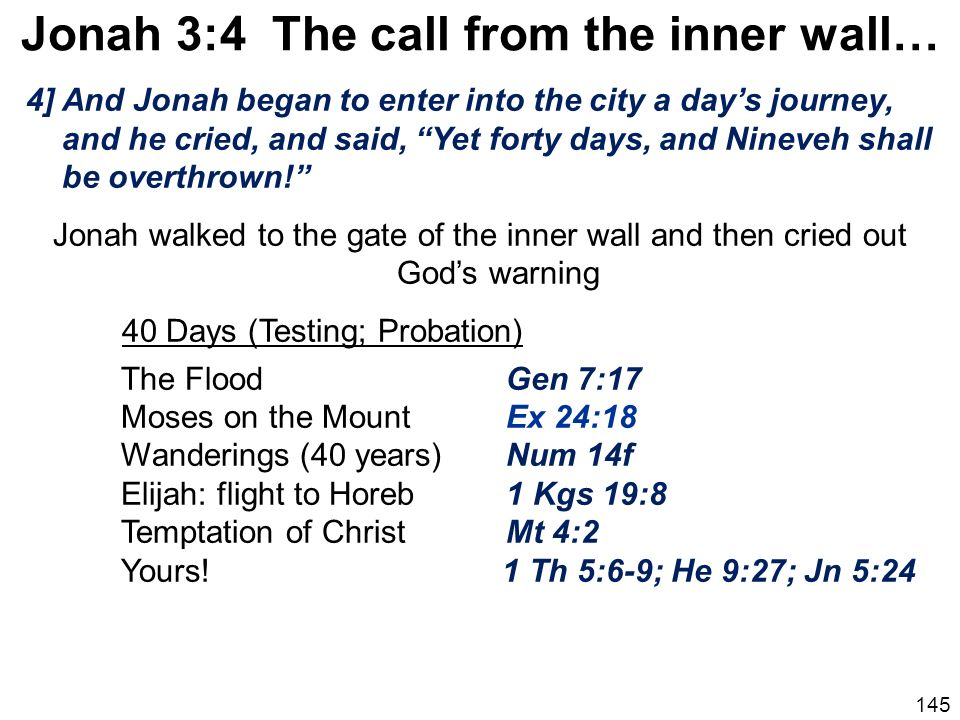 Jonah 3:4 The call from the inner wall…