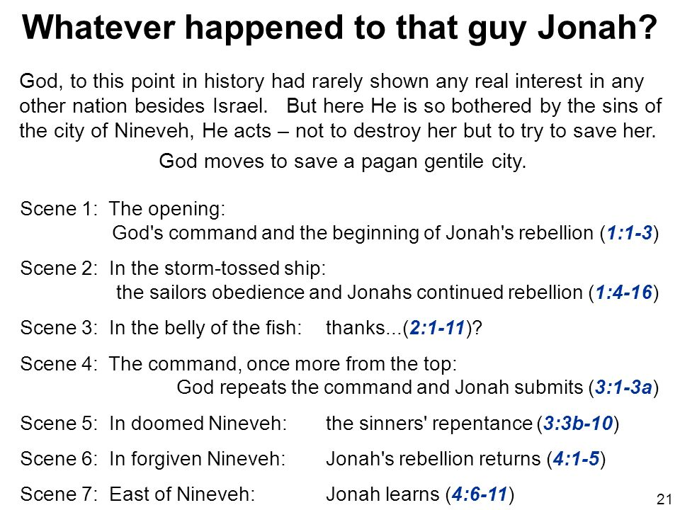Whatever happened to that guy Jonah