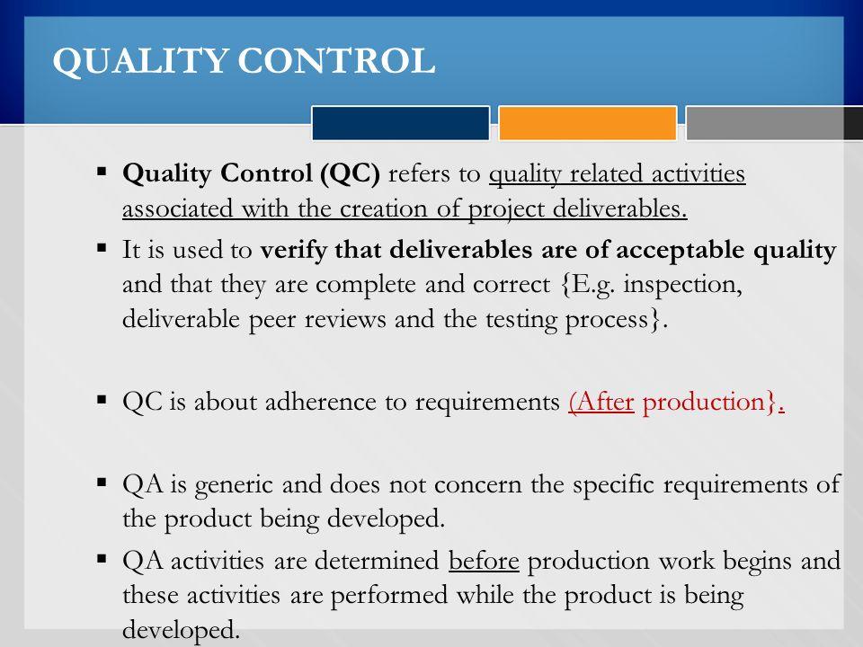 product inspection vs process control pdf