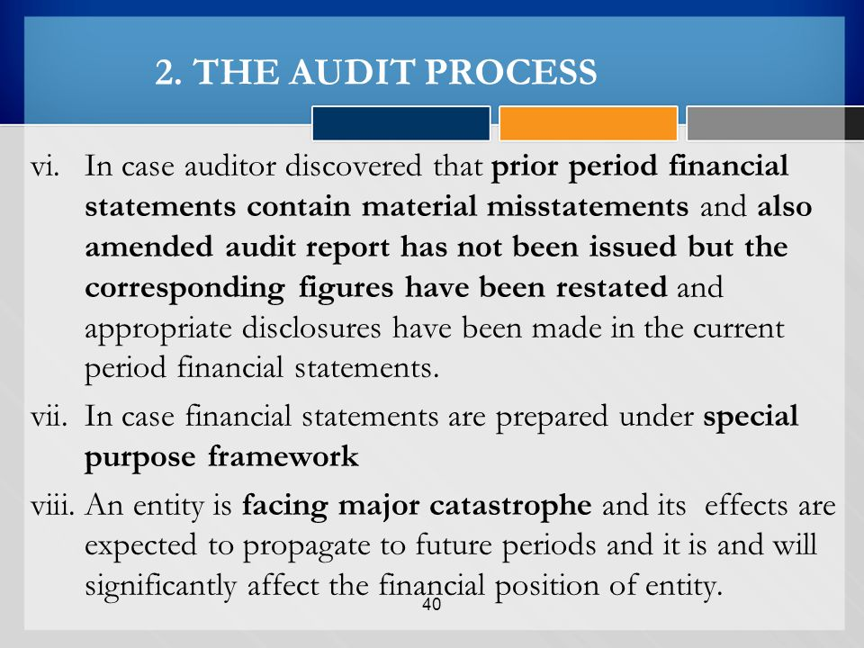 case financial audit and predecessor auditor Audit redux practice  in the case of a reaudit,  a predecessor auditor will not make audit documentation available to a successor before that firm accepts the.