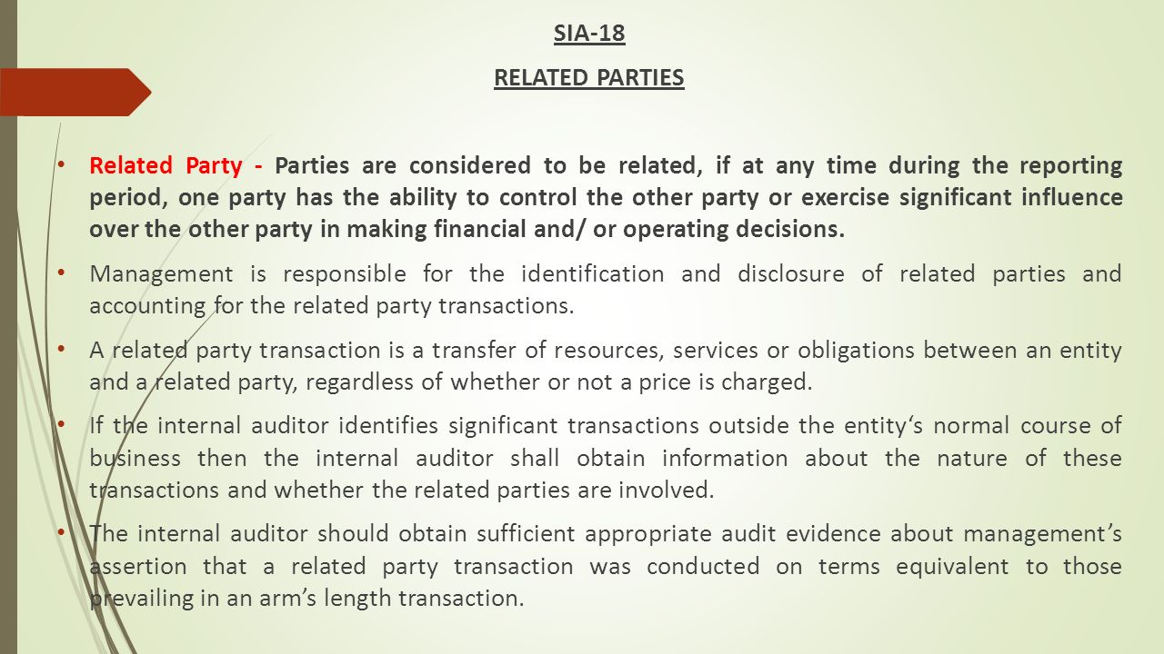 Paper Audit Risks Detection Control Tss Worker Cover Letter Cons SIA 18  RELATED PARTIES Paper Audit