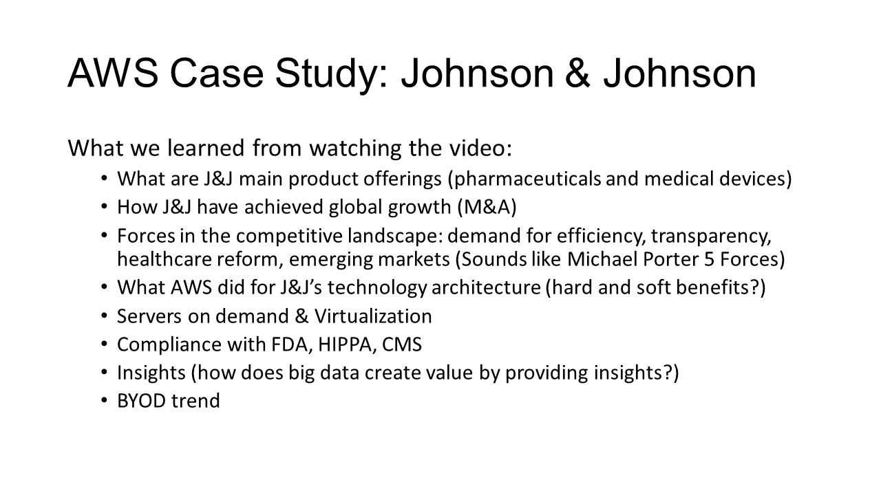 case study johnson johnson s enterprise architecture Here's a list of 19 publicly traded companies showing what percent of revenue they spend on marketing and johnson & johnson case studies the alley blog.