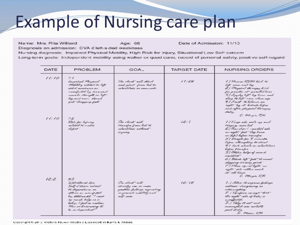 40 Example Of Nursing Care Plan
