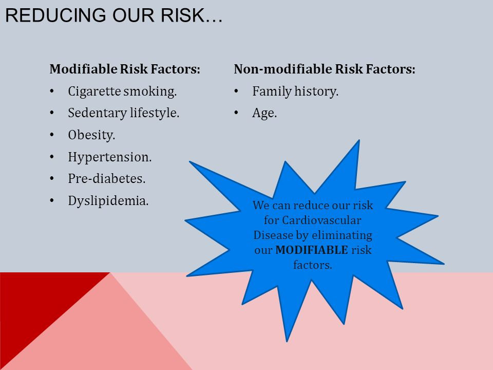 reducing risk factors for hypertension Circulation research hypertension  and treatment of high blood pressure 2  recommendations for modification of these risk factors are appropriate for reducing .