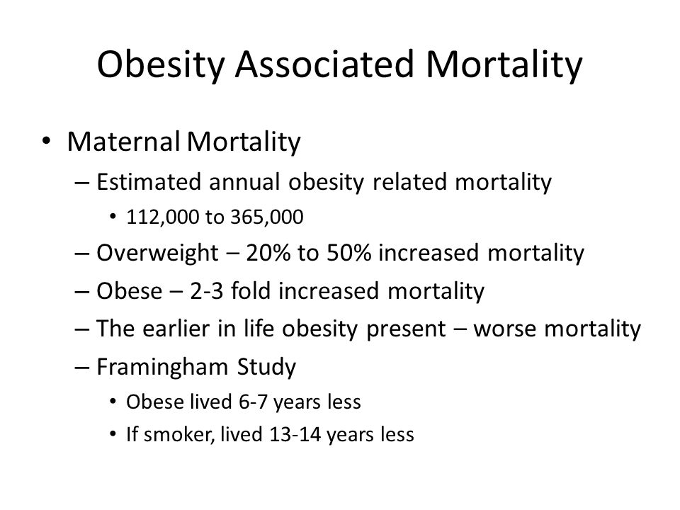 Obesity Associated Mortality