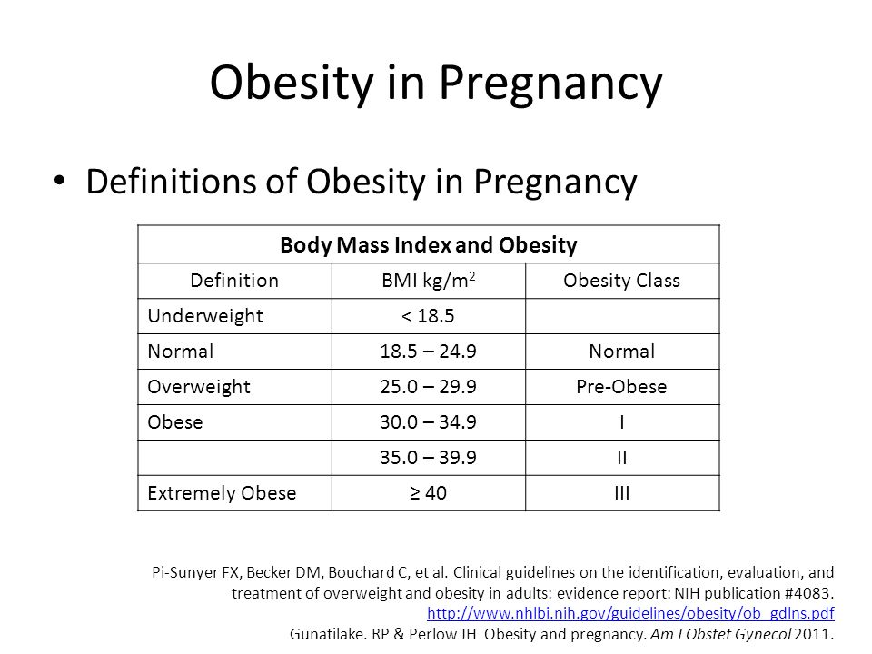 Body Mass Index and Obesity