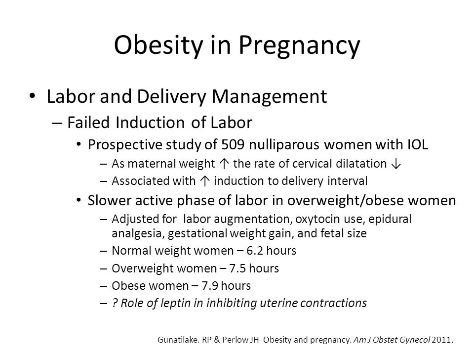 Obesity in Pregnancy Labor and Delivery Management