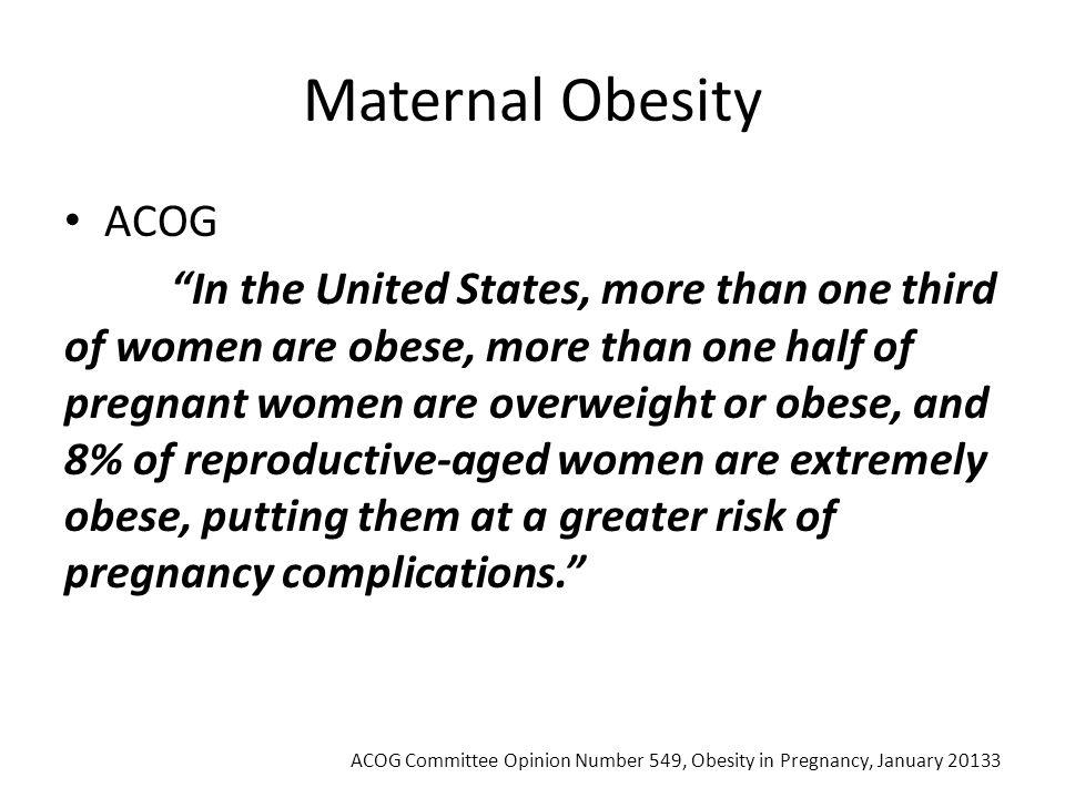 Maternal Obesity ACOG.