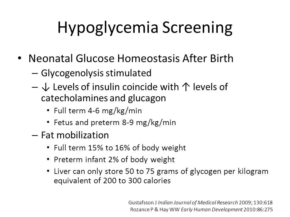 Hypoglycemia Screening