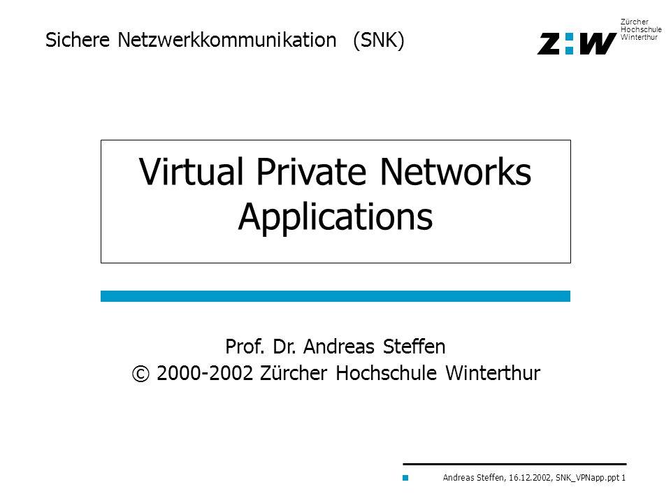 Sichere Netzwerkkommunikation (SNK)