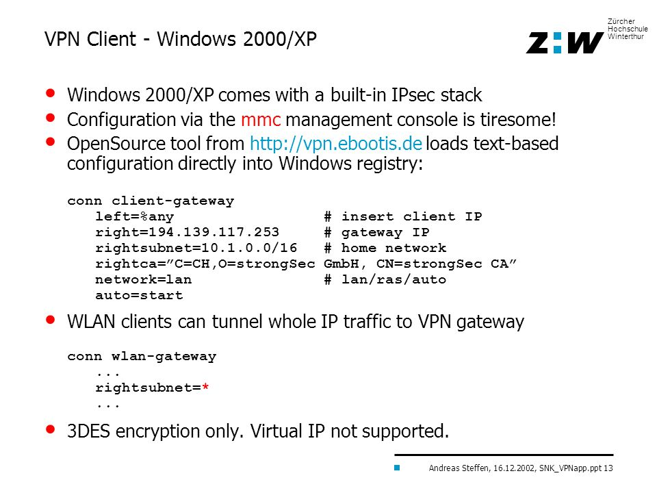 VPN Client - Windows 2000/XP
