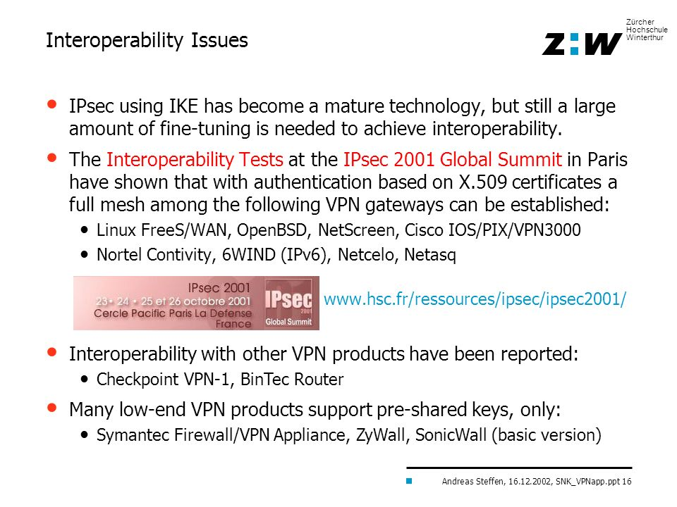 Interoperability Issues