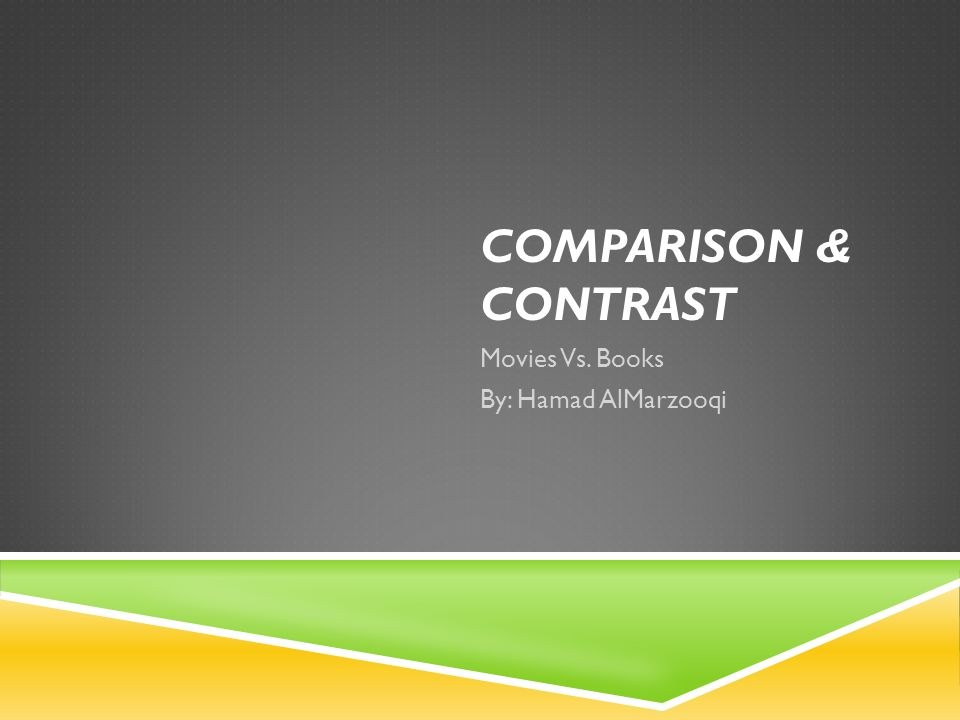 compare contrast movies books essay