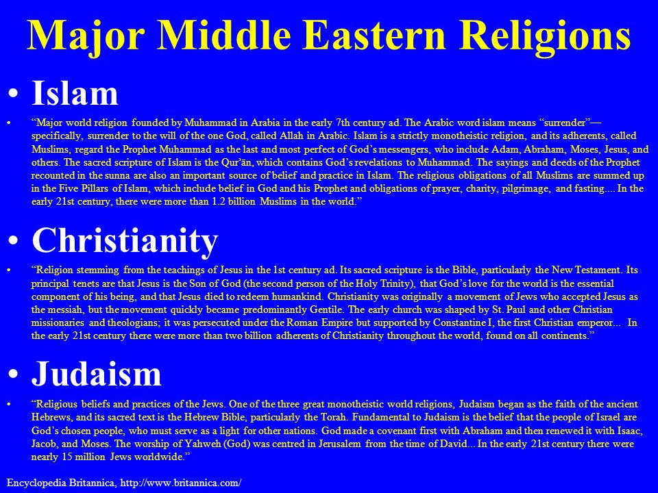 eastern religions and the importance of Religion and the middle east throughout history the effect of religion on politics has been of fundamental importance from time to time religion.