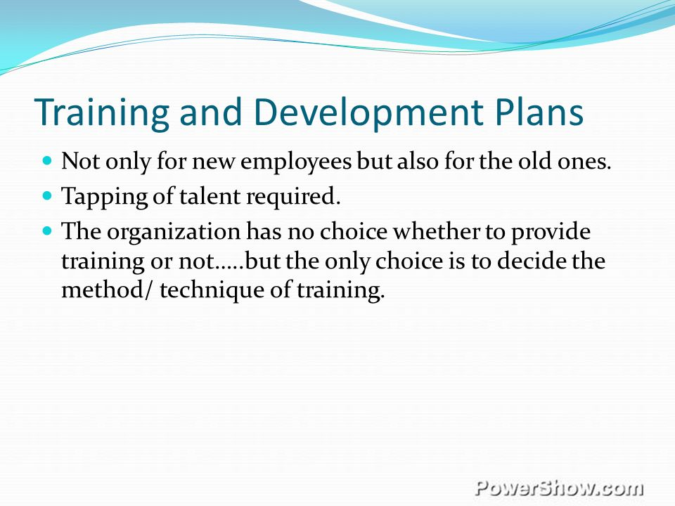 training and development methods in organizations Organization development principles,  methods and processes to bring about desired outcomes in organiza-  american society for training and development.