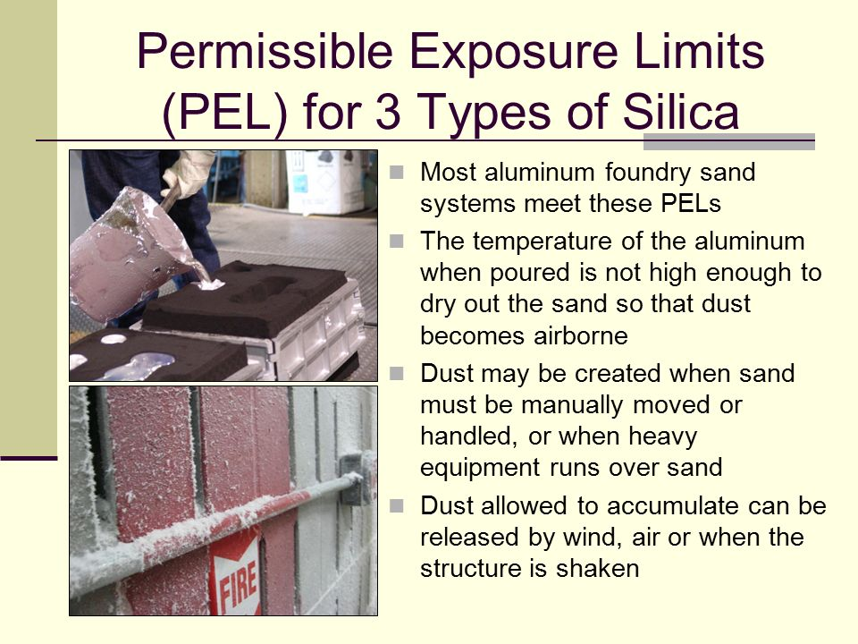 Permissible Exposure Limits (PEL) for 3 Types of Silica