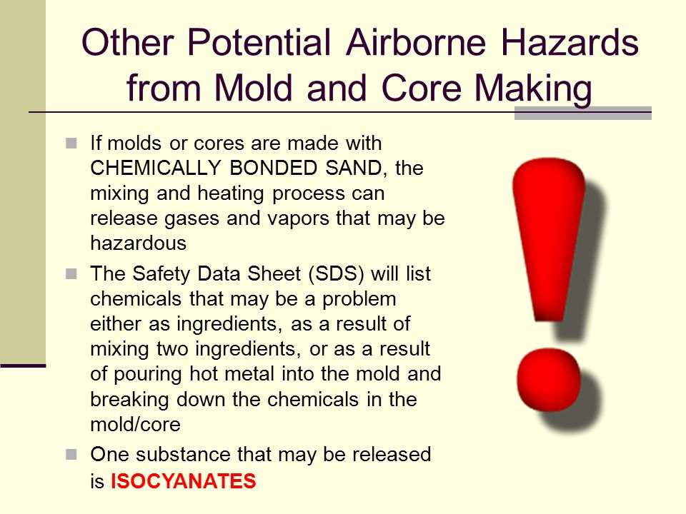 Other Potential Airborne Hazards from Mold and Core Making