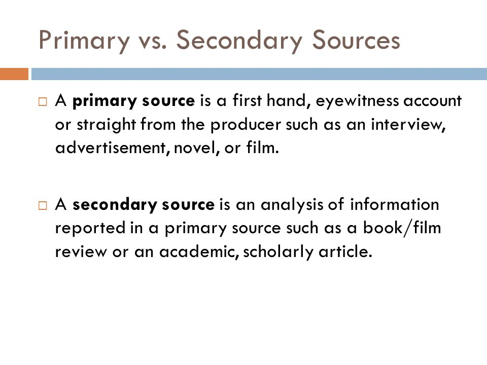 how to read a secondary source