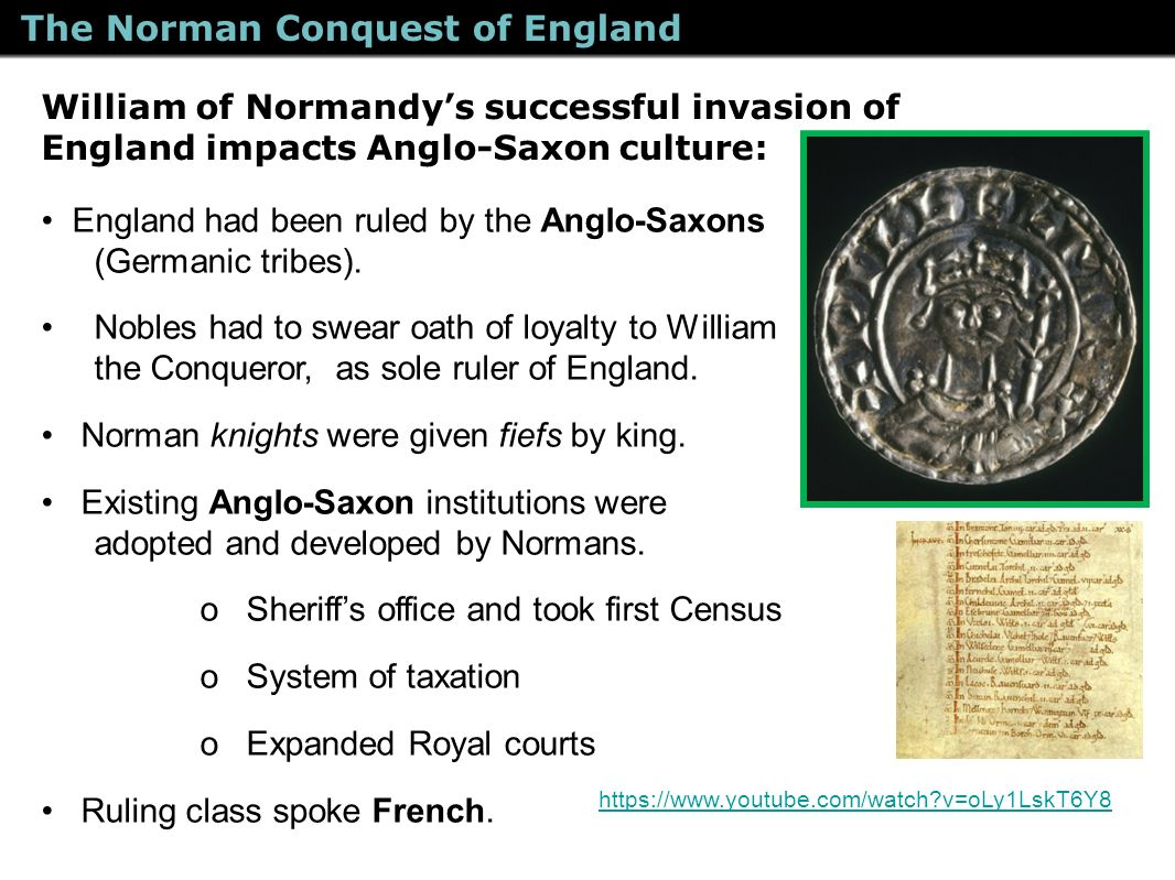 impact of normans conquest on ireland The conquest of ireland having secured the submission of both anglo-norman barons and irish kings, henry returned to england send me the national archives.