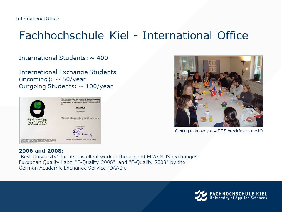 Fachhochschule Kiel - International Office
