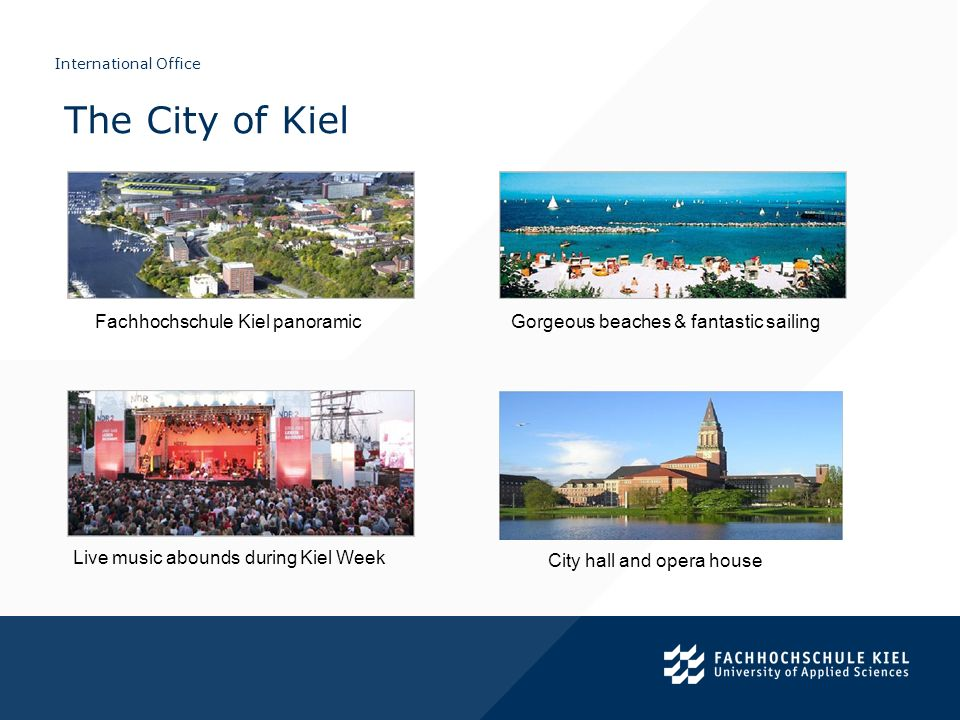 The City of Kiel Fachhochschule Kiel panoramic