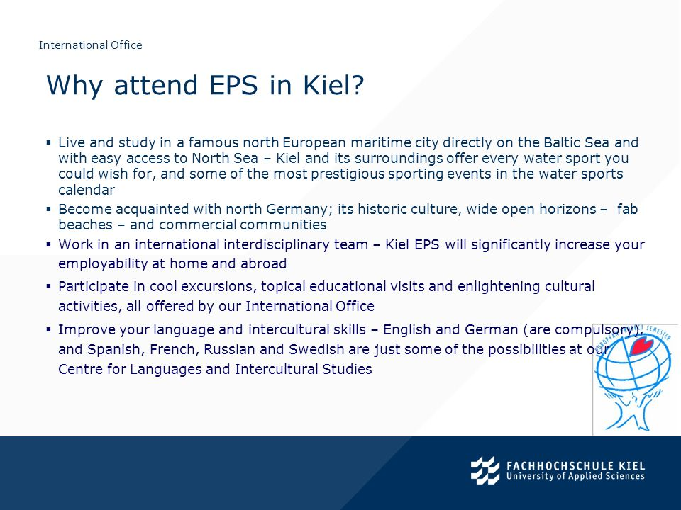 Why attend EPS in Kiel