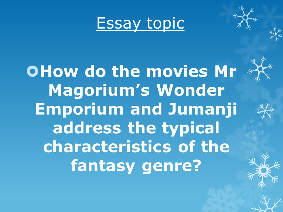 essay genre characteristics Literature and the fantasy genre saved essays and wizard that appear so often in this genre many of these modern characteristics have diverged the.
