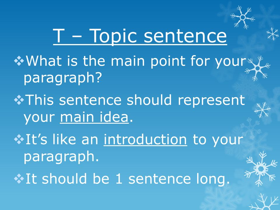 the main point essay Here is an example i often use in workshops to demonstrate the importance of  your main point we'll also use this question to explore the writing of introductions ,.