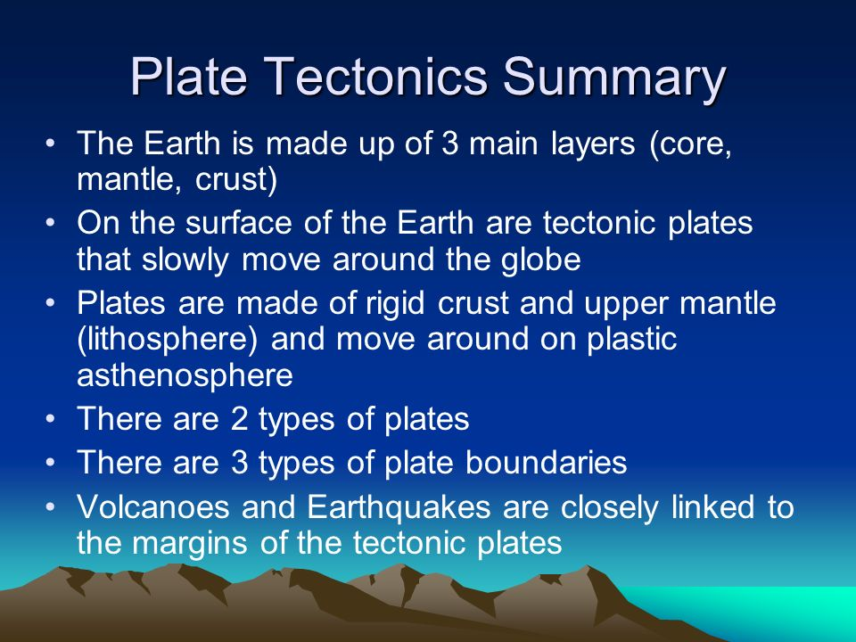 conclusion of plate tectonics Plate tectonics - download as powerpoint presentation (ppt), pdf file (pdf), text file (txt) or view presentation slides online.