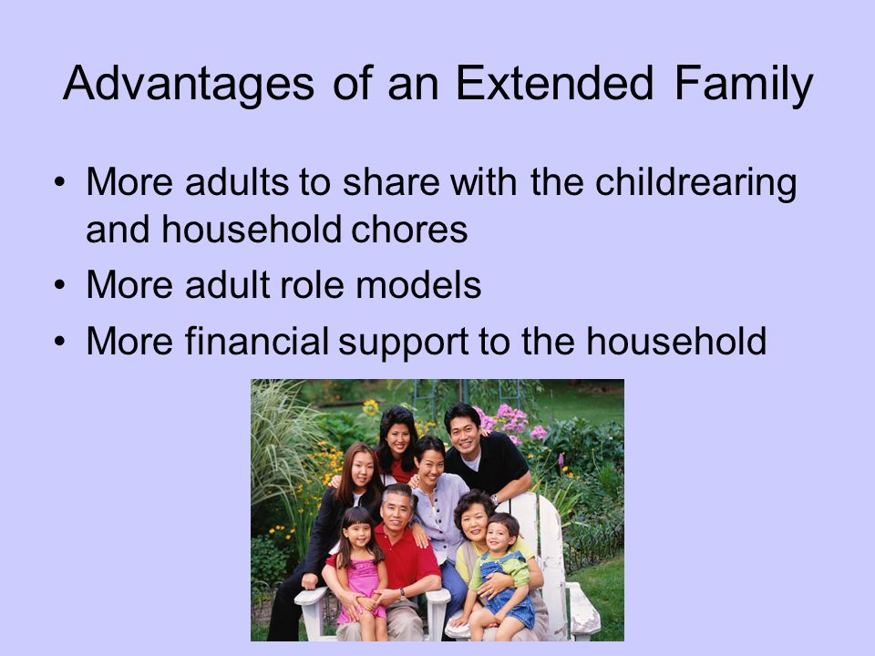 Advantages of an Extended Family