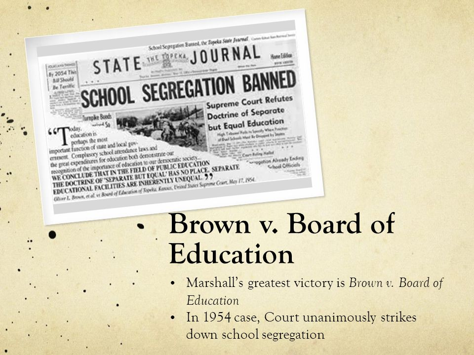the events leading to the brown v board of education case The supreme court: civil rights plessy v ferguson and brown vboard of education of topeka were two of the us supreme court's historic decisions on civil rights.