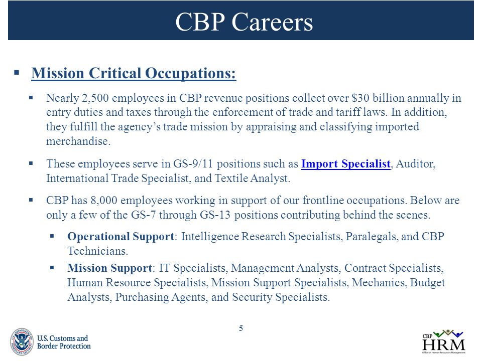 5 cbp - Cbp Marine Interdiction Agent Sample Resume