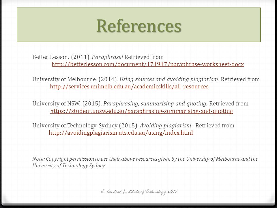 PARAPHRASING How to do it ppt video online download – Avoiding Plagiarism Worksheet