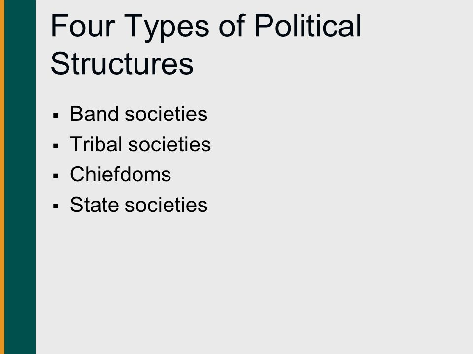 Four Types of Political Structures