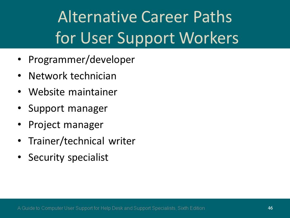 an introduction to the career path of a network support specialists Technical support specialists are able to deal with most customer issues over the   the technical support specialist will set up training sessions to introduce the  new  sokanu's free assessment reveals how compatible you are with a career.