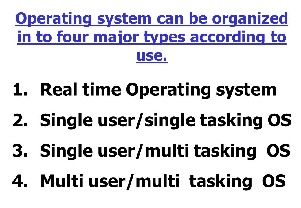 multi user operating systems 2 Multiuser dos is a real-time multi-user multi-tasking operating system for ibm pc-compatible microcomputers an evolution of the older concurrent cp/m-86 and.