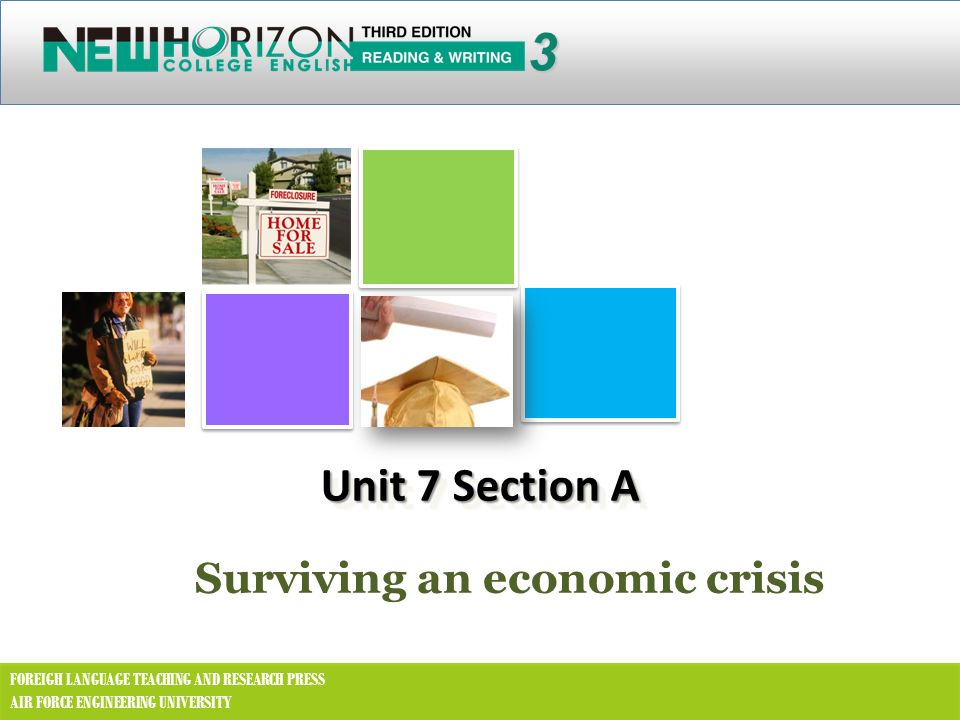 3 Unit 7 Section A Surviving an economic crisis