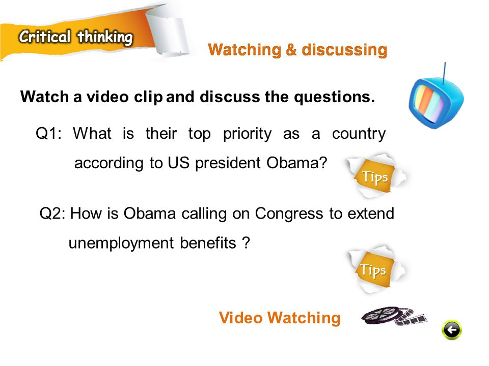 Watch a video clip and discuss the questions.