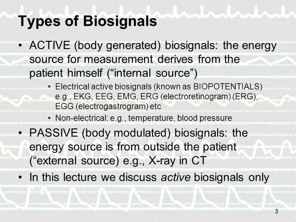 Biosignals and their processing