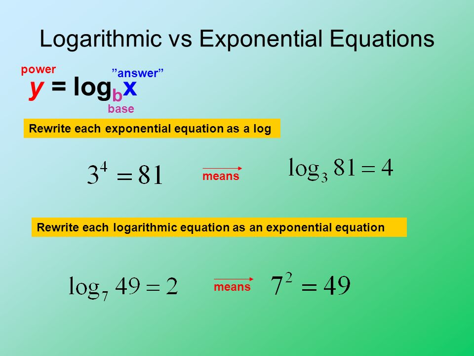 More on Logarithmic Functions ppt video online download