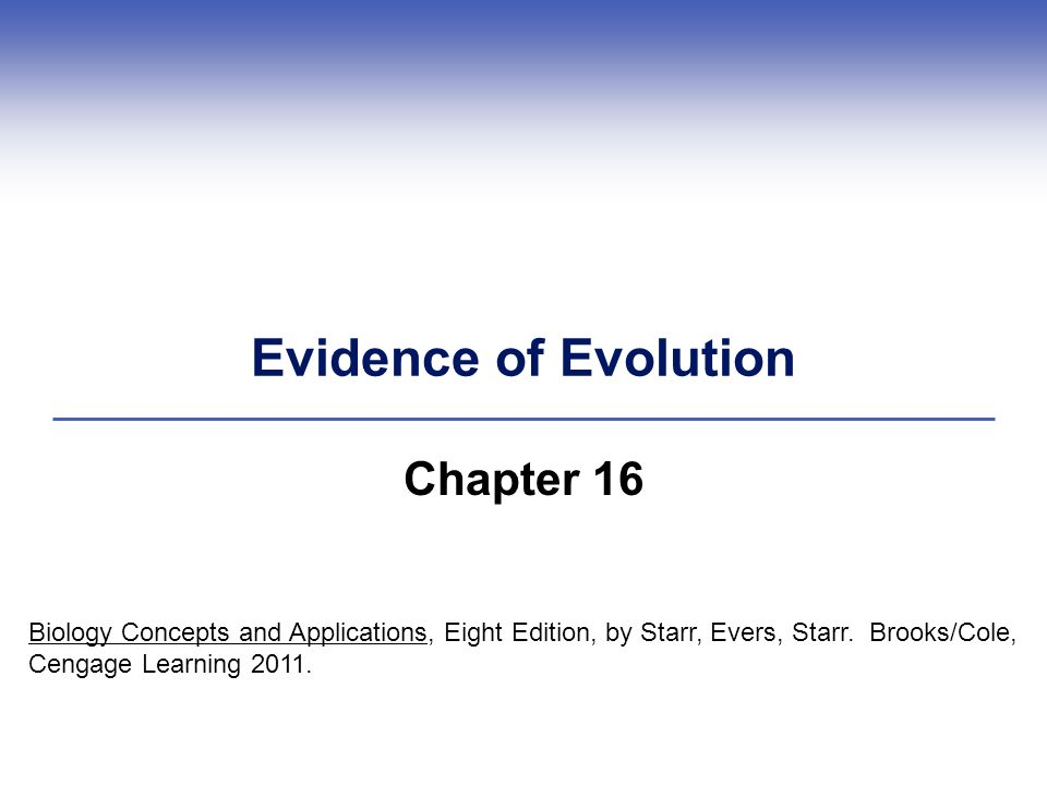 evidence for chapter 8