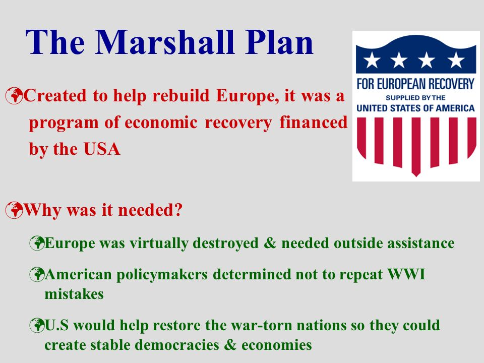 an analysis of the marshall plan in the european nations Hesselbein was awarded the presidential medal of freedom, the united states of america's highest civilian honor, by president an analysis of the marshall plan in the european nations clinton in 1998 for her.