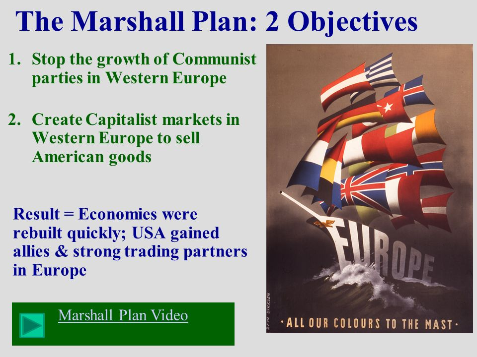 the objectives and effects of the popular truman doctrine The marshall plan, which provided billions of dollars in aid to post-world war ii  europe, had several objectives the first was to assist in the rebuilding effort in.