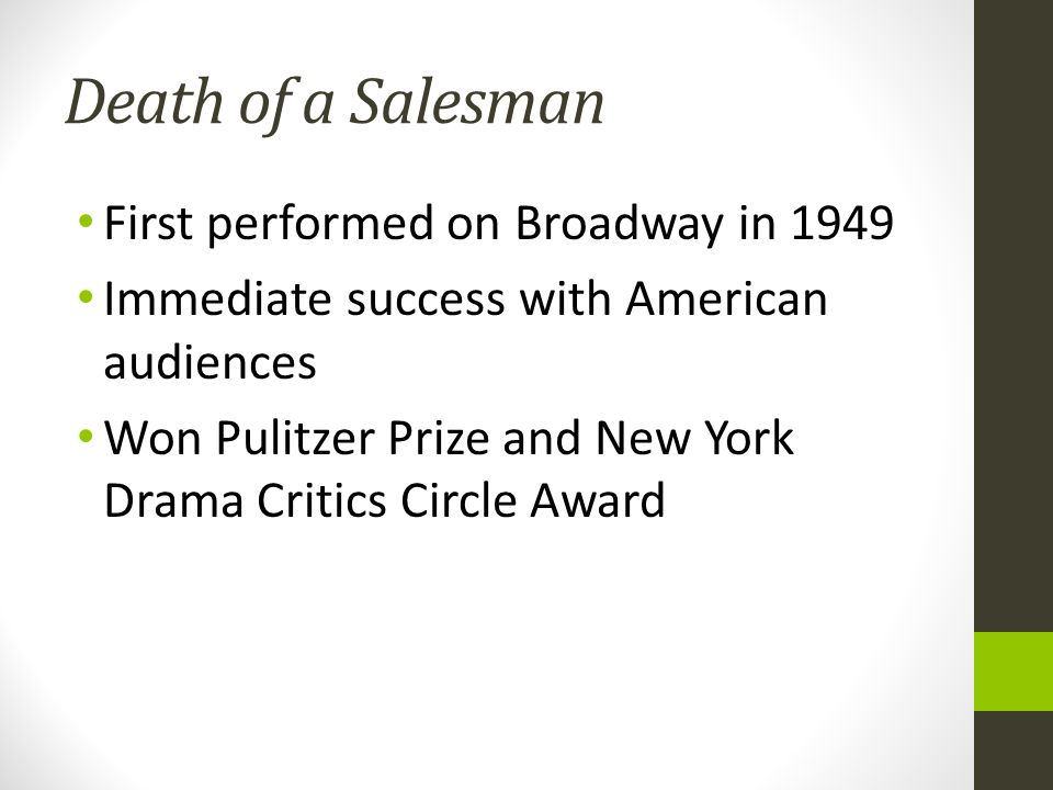 the nature of success in death of a salesman by arthur miller In arthur miller's classic play, the reader joins a family on their struggle to achieve   these articles will help students explore the tenuous relationship between  success, purpose,  it's increasingly natural, brits say, for children to avoid nature.