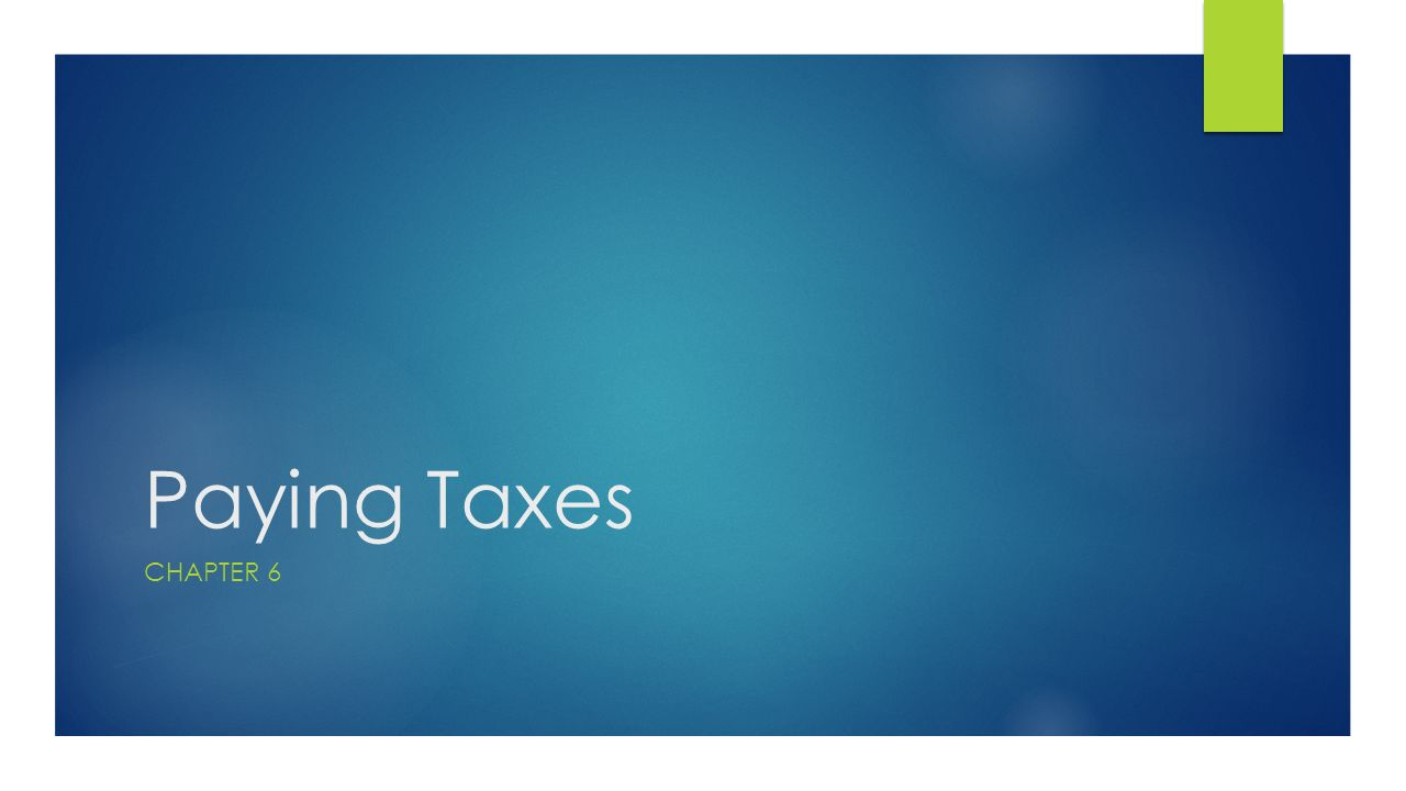 tax ch 1 Chapter 1 introduction to taxation chapter highlights  impose gift taxes 1 the base for the tax is the fmv, at the date of gift, of the property transferred.